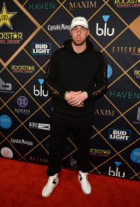 MINNEAPOLIS, MN - FEBRUARY 03:  NFL player Travis Kelce of the Kansas City Chiefs attends the 2018 Maxim Party co-sponsored by blu February 3, 2018 in Minneapolis, Minnesota.  (Photo by Daniel Boczarski/Getty Images for blu)